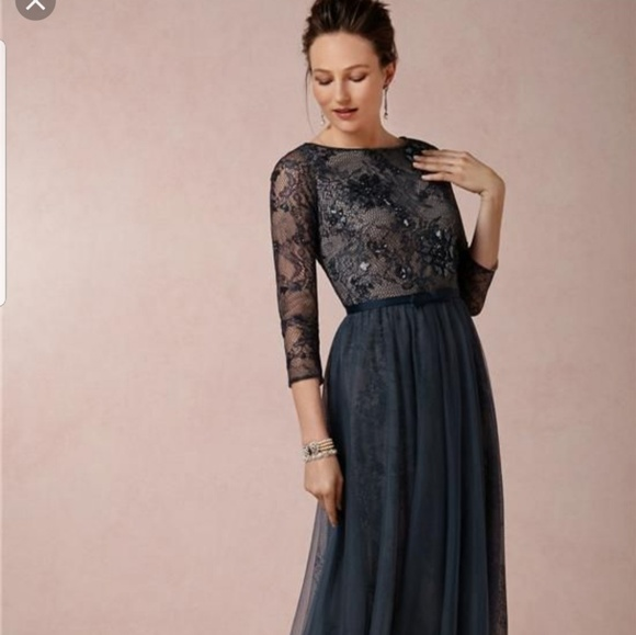 bf1d47f45e2 BHLDN Illusion Navy Mother of the Bride Dress